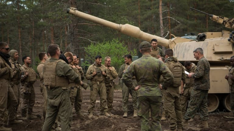 Marines just took tanks out of secret caves to train near Russia