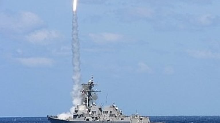 """From the Navy: Destroyers Conduct Missile """"Live-Fire"""" in Atlantic Ocean"""