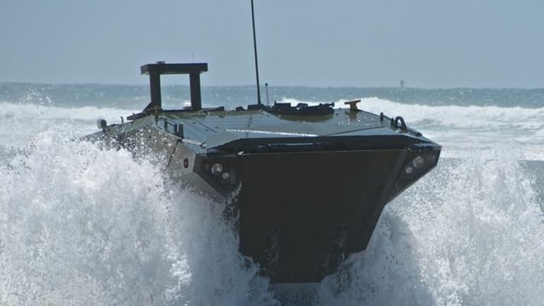 Marine Corps Fires Weapons at its New Amphibious Combat Vehicle