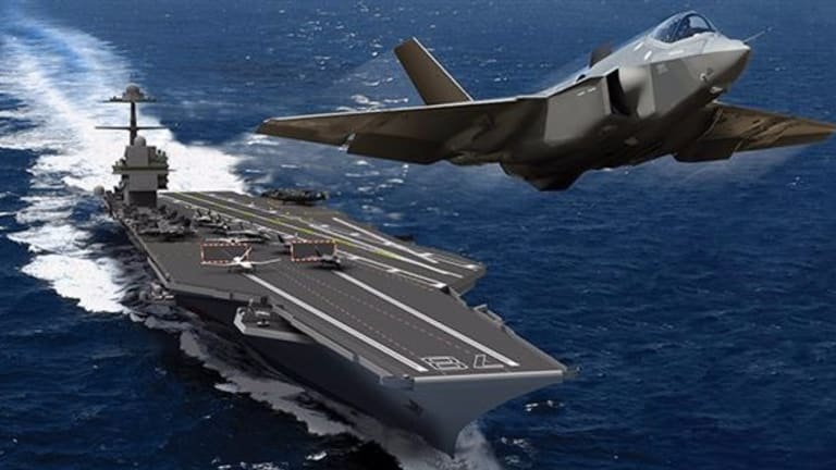 New USS Ford Launches Fighter From Carrier Deck for First Time