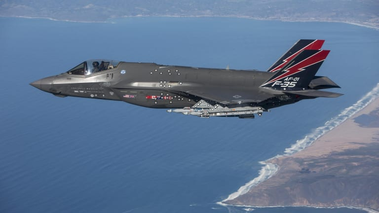 F-35 used sensors, on-board computers and targeting systems to find, track and