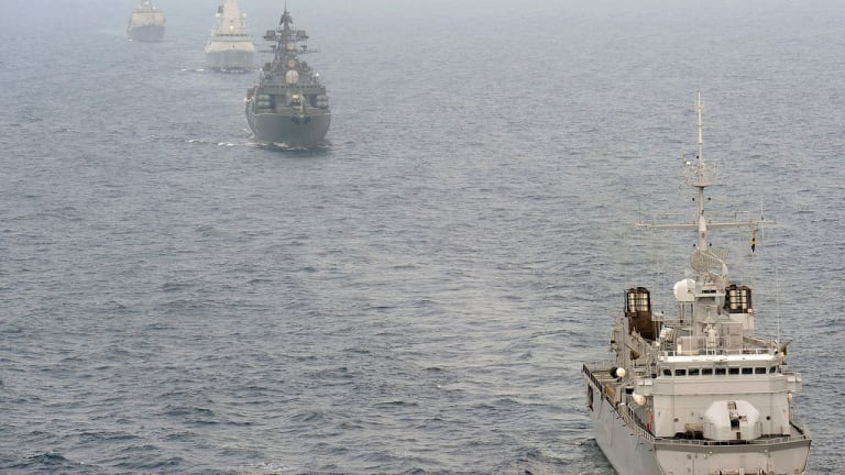 Russia Attacks and Fires Upon Ukrainian Ships in Sea of Azov