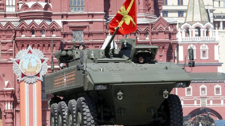 Russia Adds Large Numbers of New Bumerang Amphibious Assault Vehicles