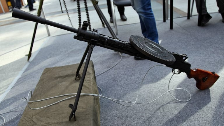 """DP-28 Russian Red Army's """"Record Player"""" Machine Gun"""