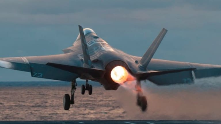 Navy F-35s are training with F/A-18s