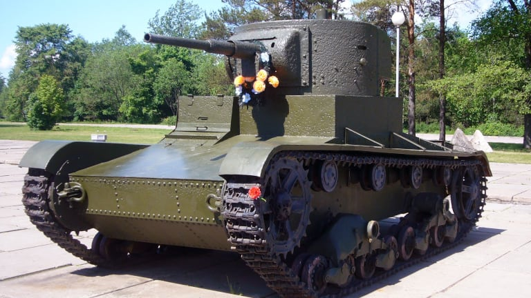 Russia Tried to Conquer Finland with Flamethrower Robot Tanks