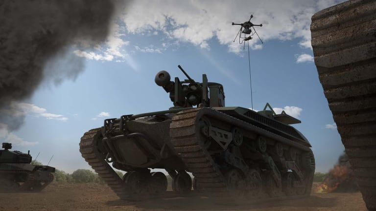 Army Robot Vehicles Call for Fires in Test, Attack Targets