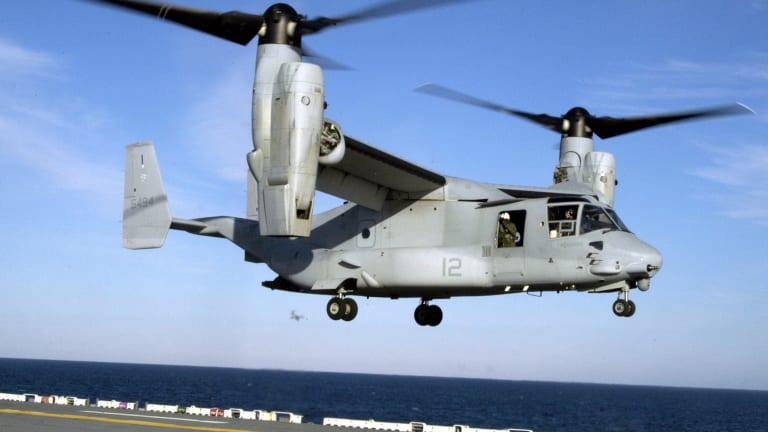 Marine Corps Plans Weapons & Tech for Osprey - beyond 2030