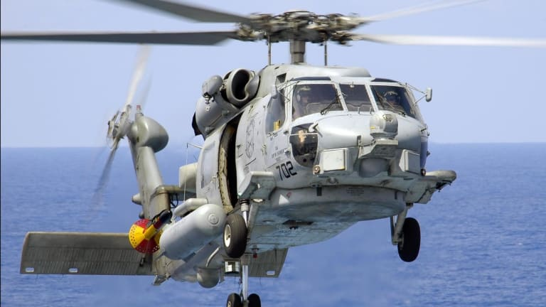 Helicopter-Fired Navy Laser Weapon Helps Attack & Destroy Sea Mines