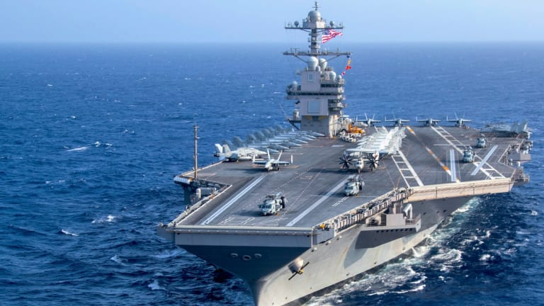 """Navy Starts Carrier """"Shock Trials"""" - How Many Bombs and Missiles Can the USS Ford Survive?"""