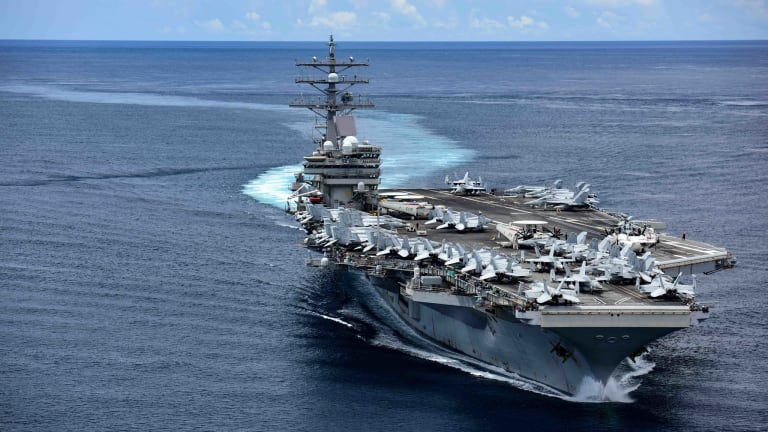 Navy Sends Carrier Firepower to South China Sea