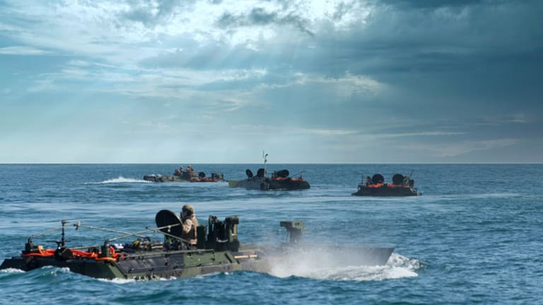 """New Marine Corps ACV Built For Ocean Strike Into """"Deep Land Attack"""""""