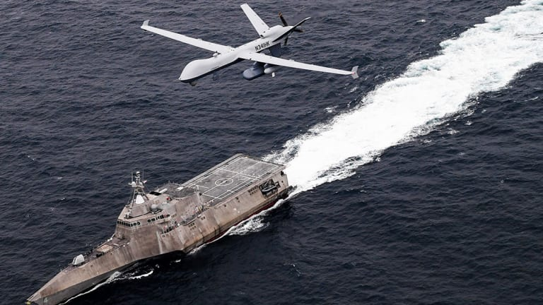 """Navy Sub-Hunting Reaper Drone Connects Warships to """"Over-The-Horizon"""" Target"""