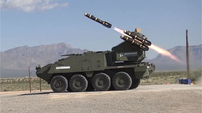 U.S. Army Massively Upgrades Weapons Package for Stryker Short Range Air Defense Program