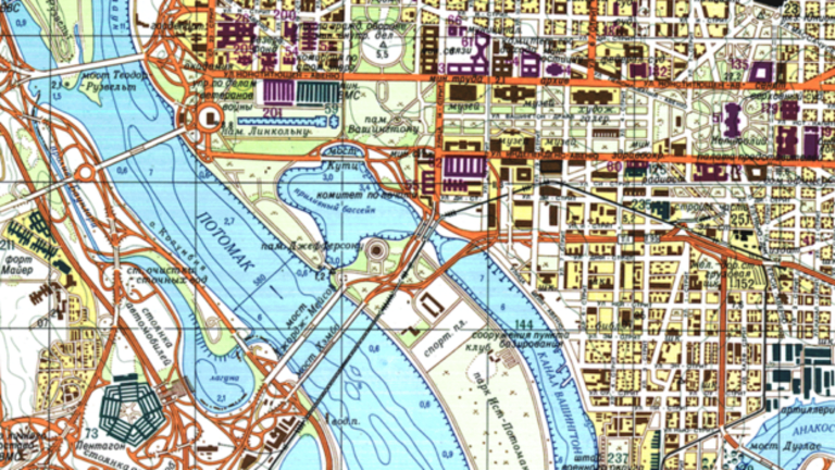 Take a Look at This Incredibly Detailed Soviet Map of Washington, D.C.