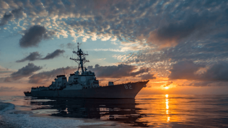 Navy Chief Says the US Needs to Get 'Muscular' with Russian and Chinese Ships