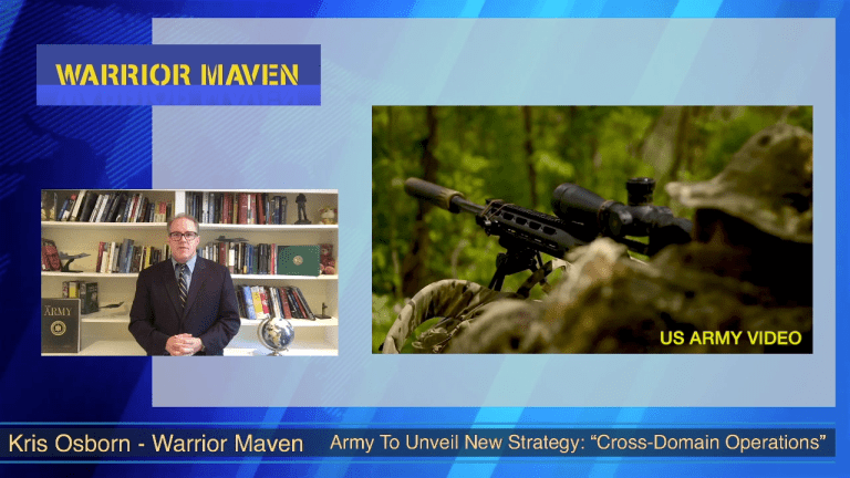 """AUSA Series VIDEO: Army Rolls Out New """"Multi-Domain Operations"""" at AUSA"""