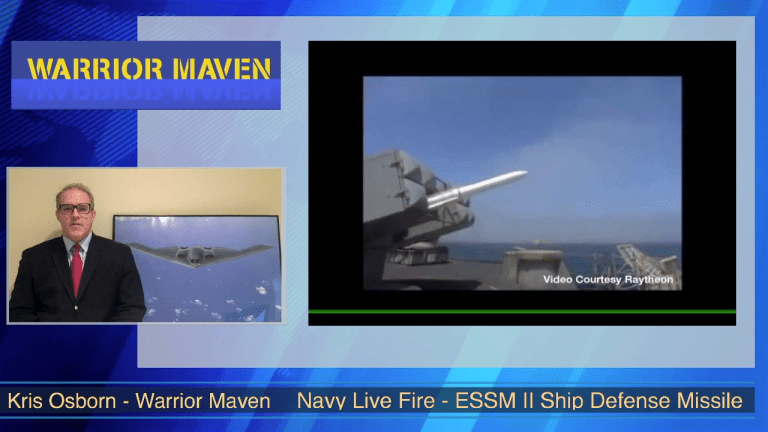 Video Analysis: Navy Live Fire New ESSM II Ship Defense Weapon