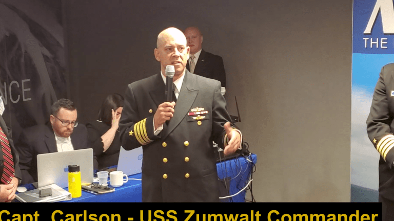 "Video: Navy Capt. Describes ""Stormy Seas"" On Board the Stealthy USS Zumwalt"