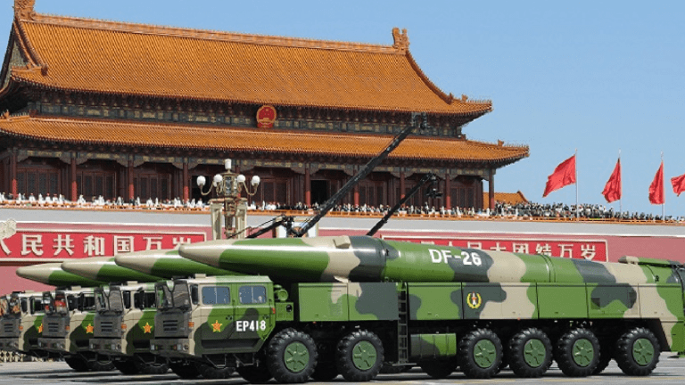 """China Fires Guided """"Carrier Killer"""" Missiles at Night"""