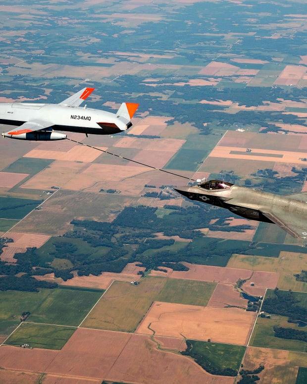 F-35C Lightning MQ-25 Refueling