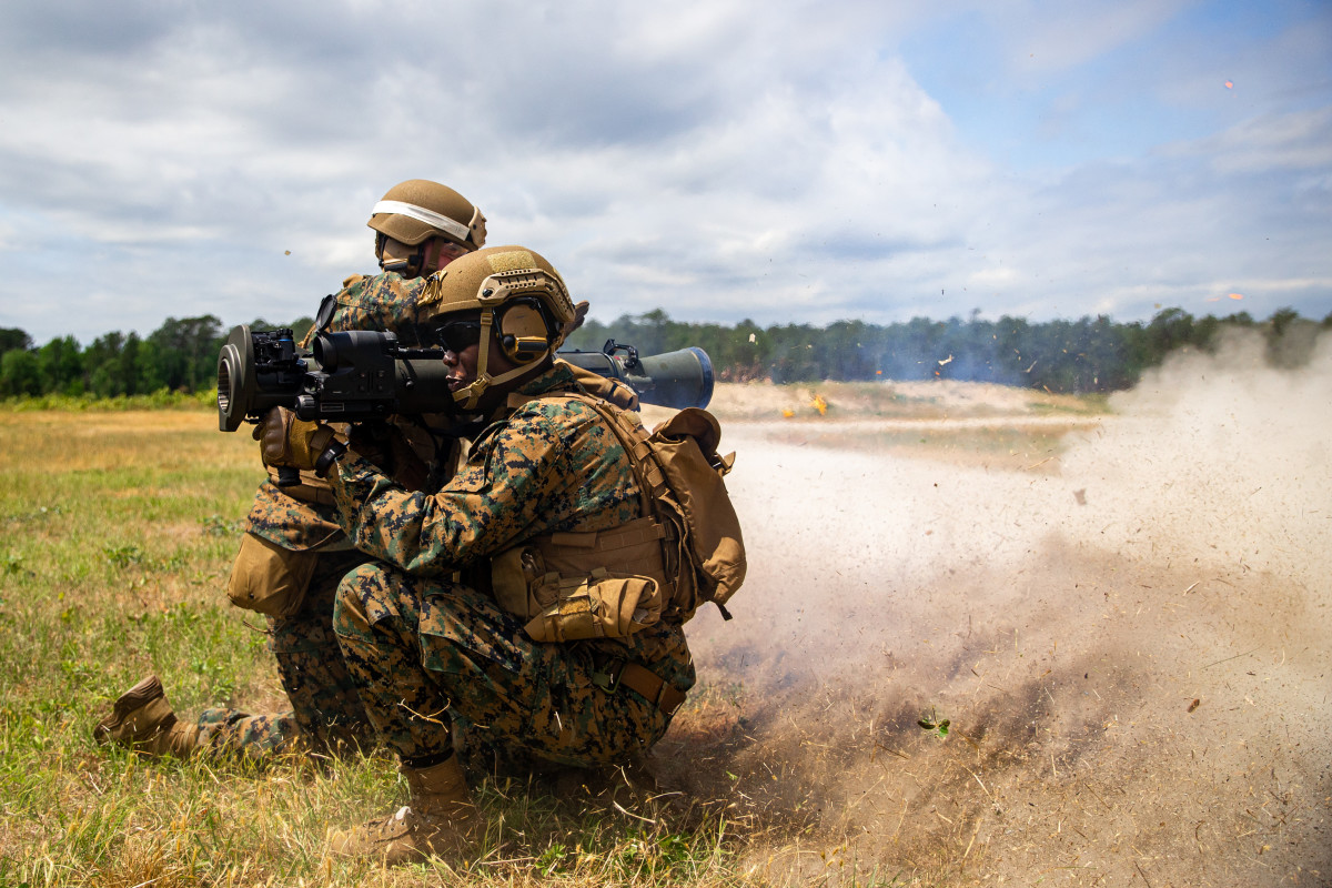 Firing the M3E1 Multi-Purpose Anti-Armor Anti-Personnel Weapon System