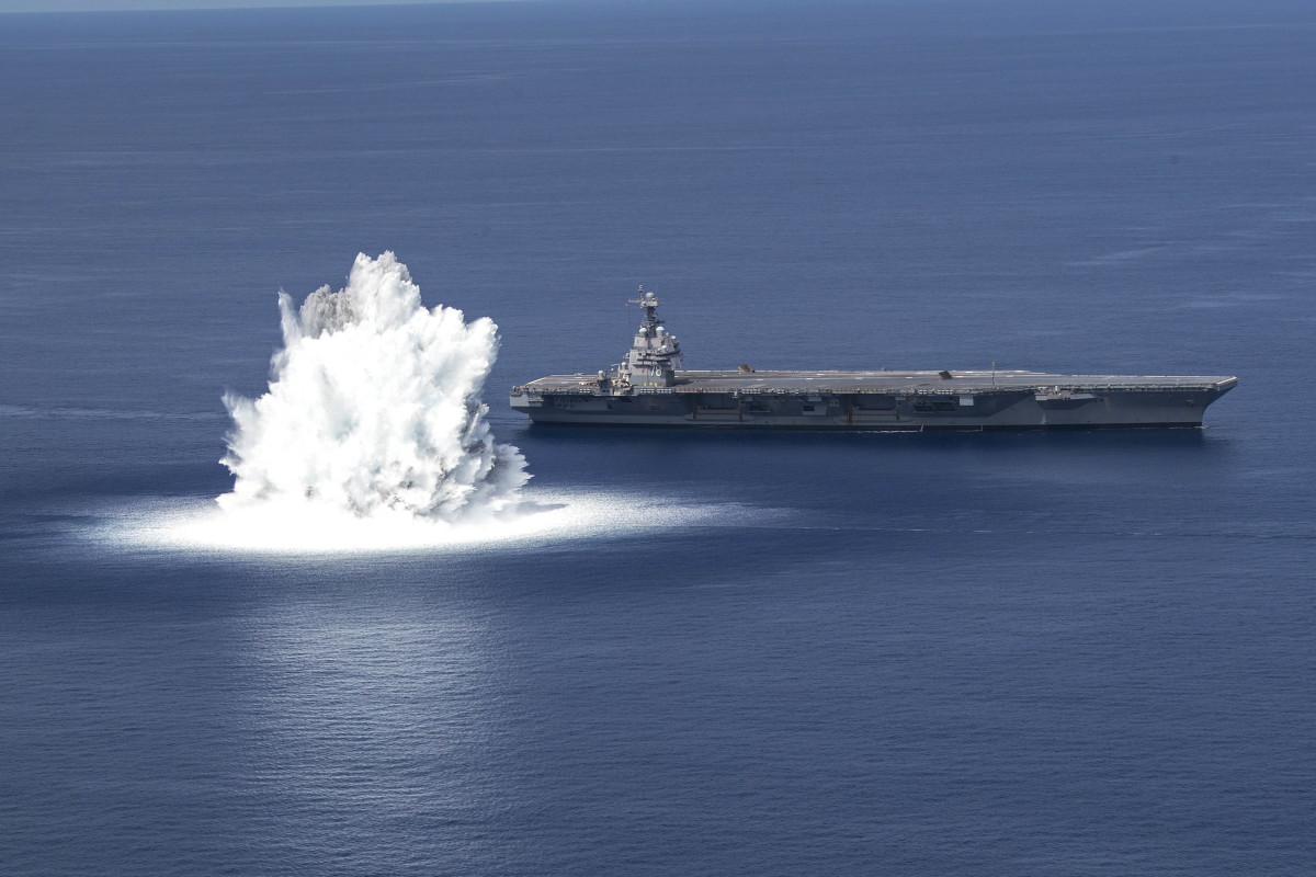 U.S. Navy USS Ford Shock Trials