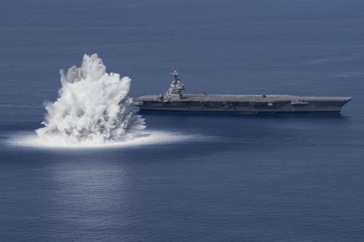 U.SA Navy USS Ford (CVN 78) Shock Trials