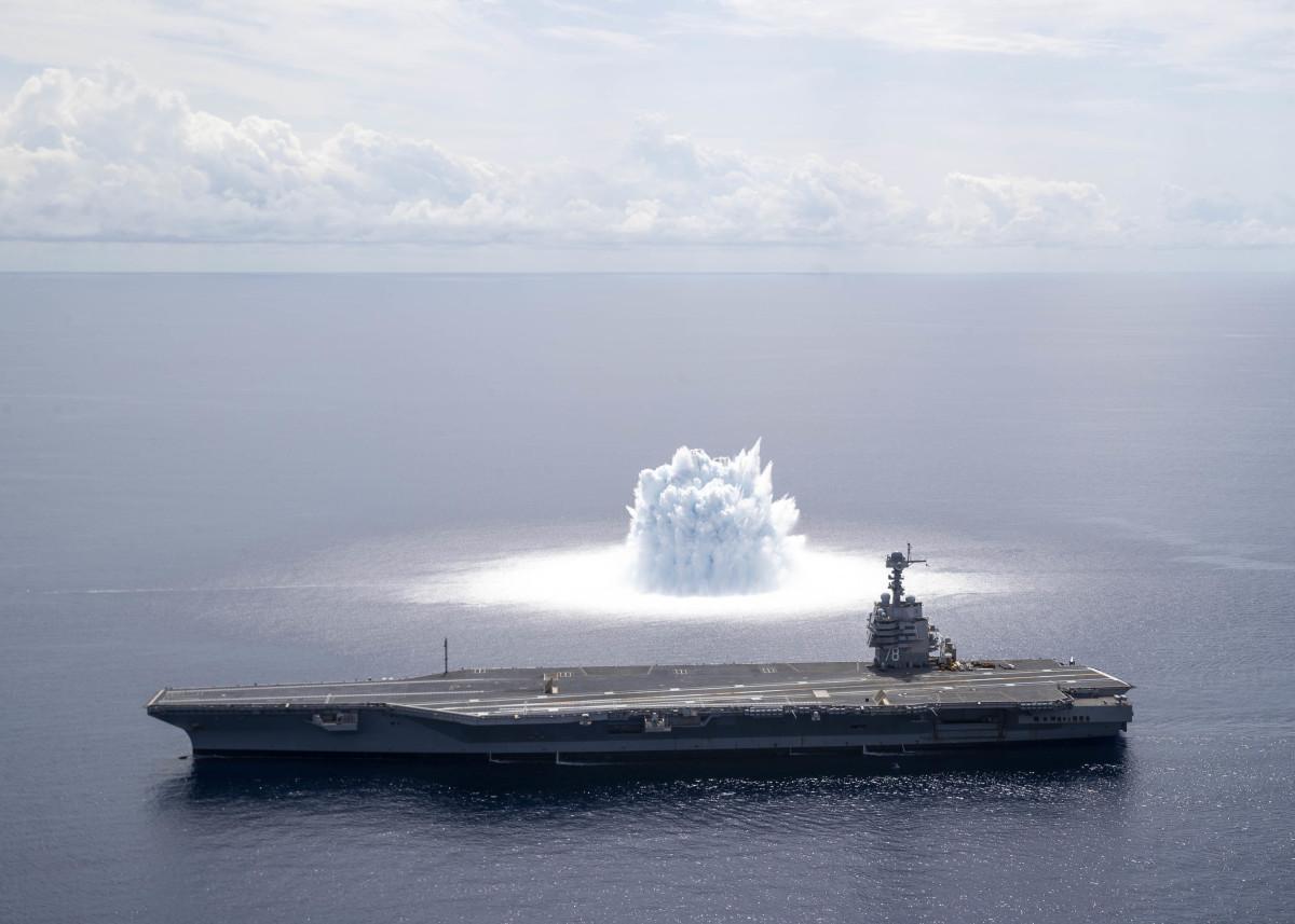 U.S. Navy USS Ford Class (CVN 78) Shock Trials