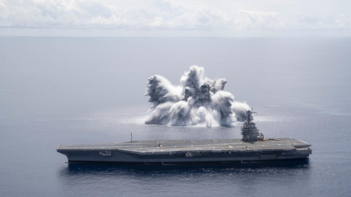 U.S. Navy USS Ford Class Shock Trials