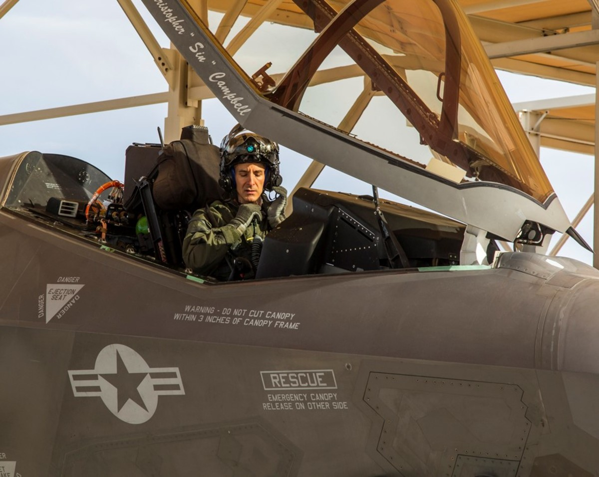 Chris (Worm) Spinelli in F-35A