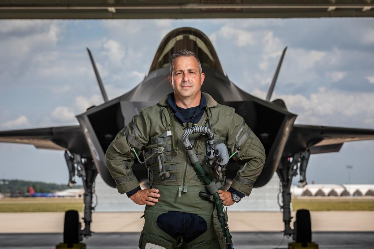"""Tony """"Brick"""" Wilson with F-35A"""