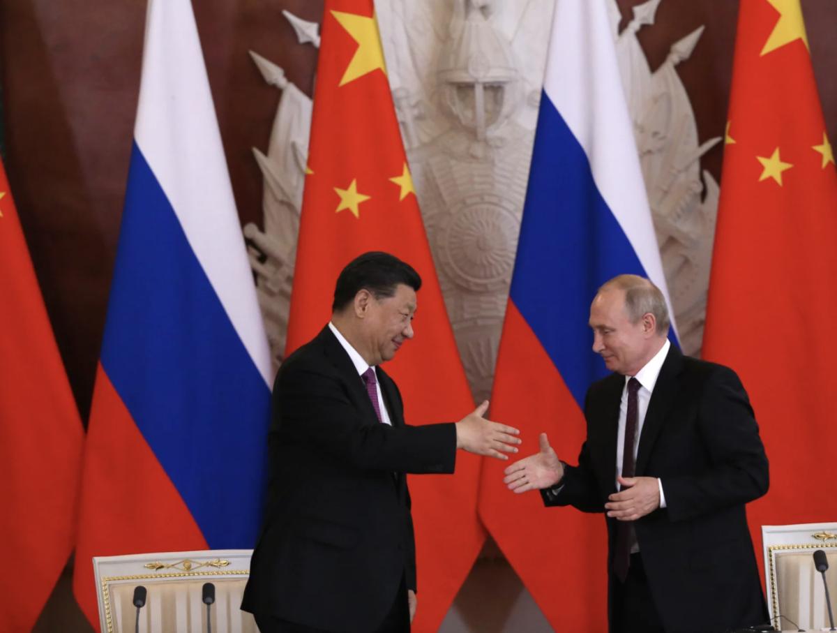 Chinese President Xi Jinping and Russian President Vladimir Putin