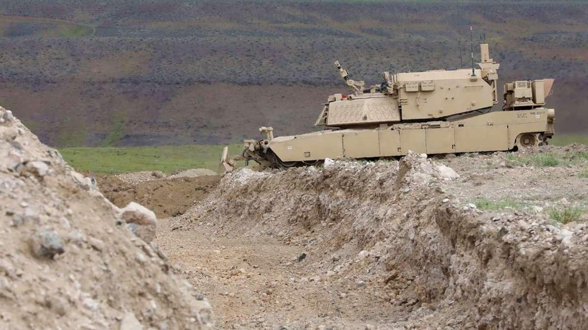 U.S. Army Robot Tank Ditch