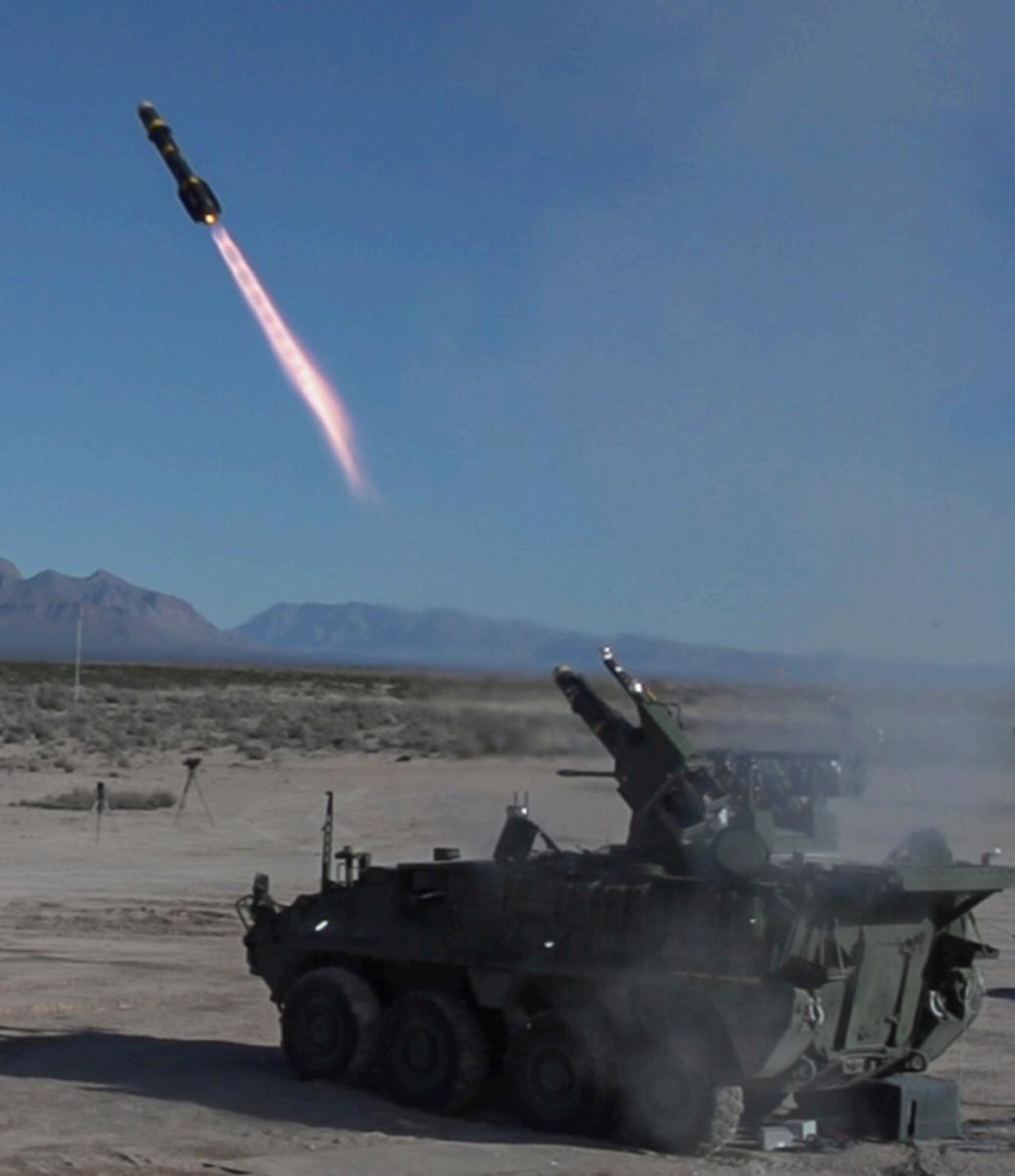 M-SHORAD Fires Hellfire Missile