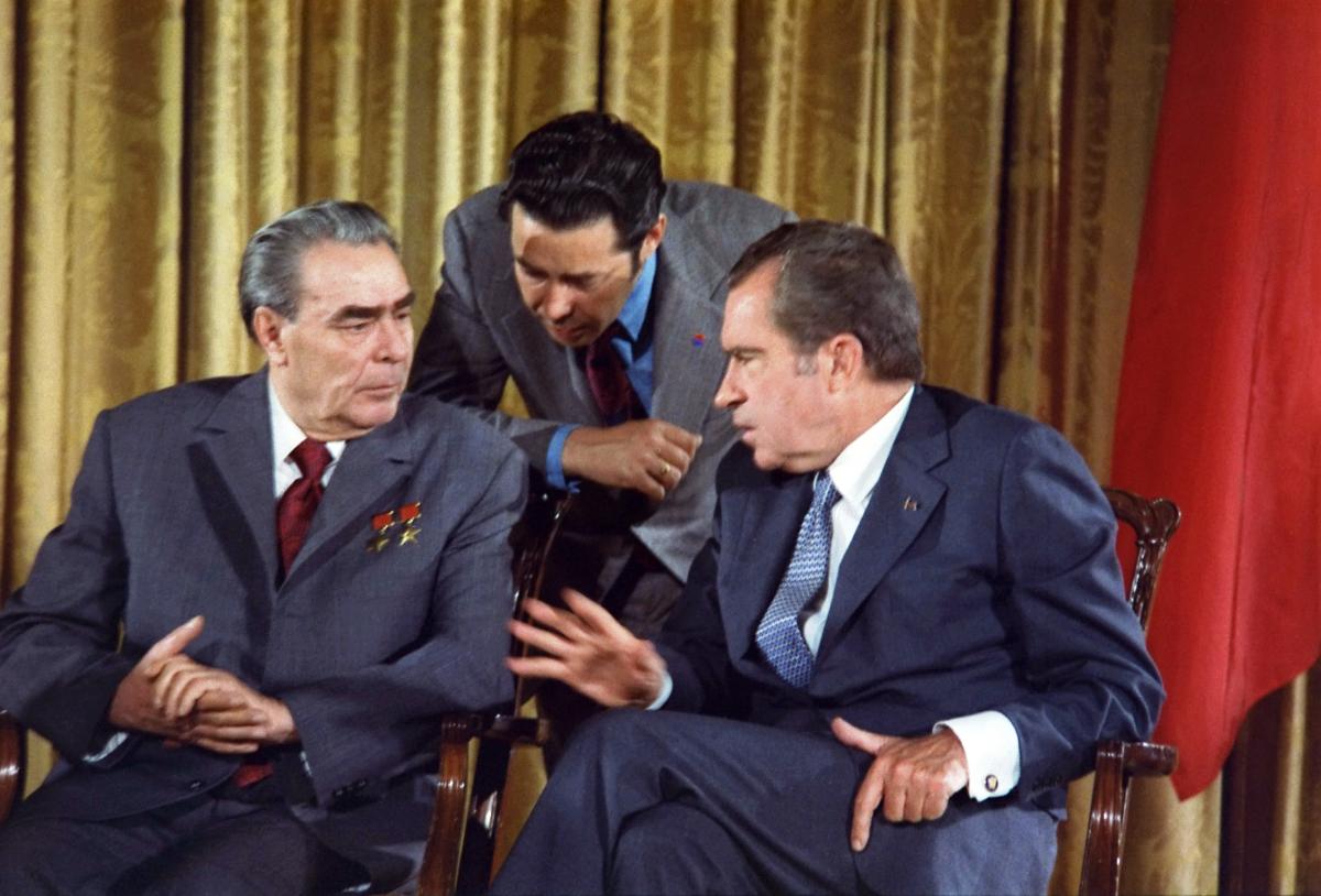 Leonid Brezhnev Richard Nixon 1973