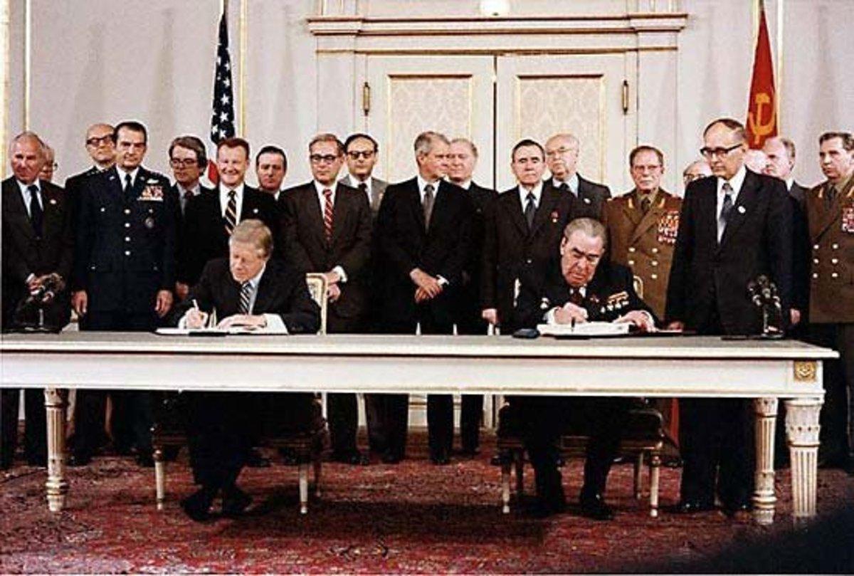 U.S. President Jimmy Carter SALT II Treaty