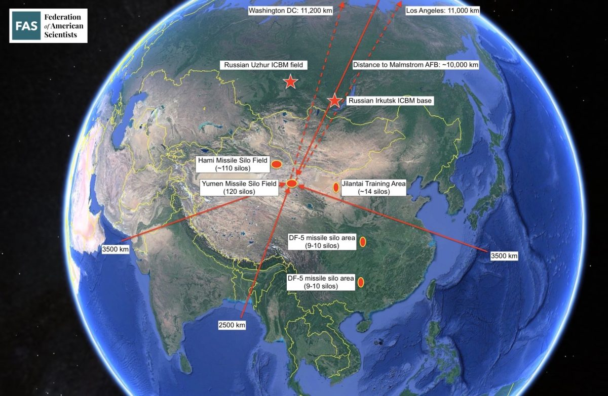 The Hami and Yumen missile silo fields are located deeper inside China than any other ICBM base and beyond the reach of conventional cruise missiles.