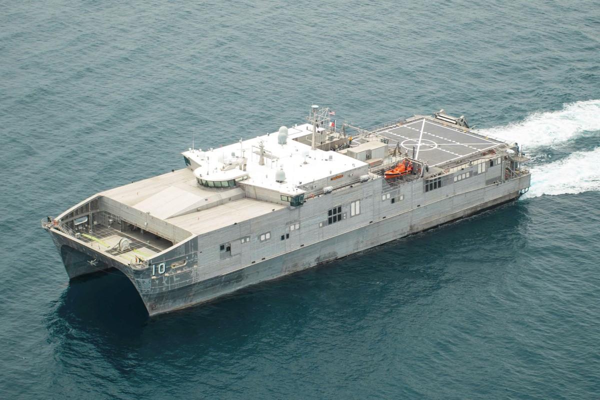 Spearhead-class expeditionary fast transport ship USNS Burlington